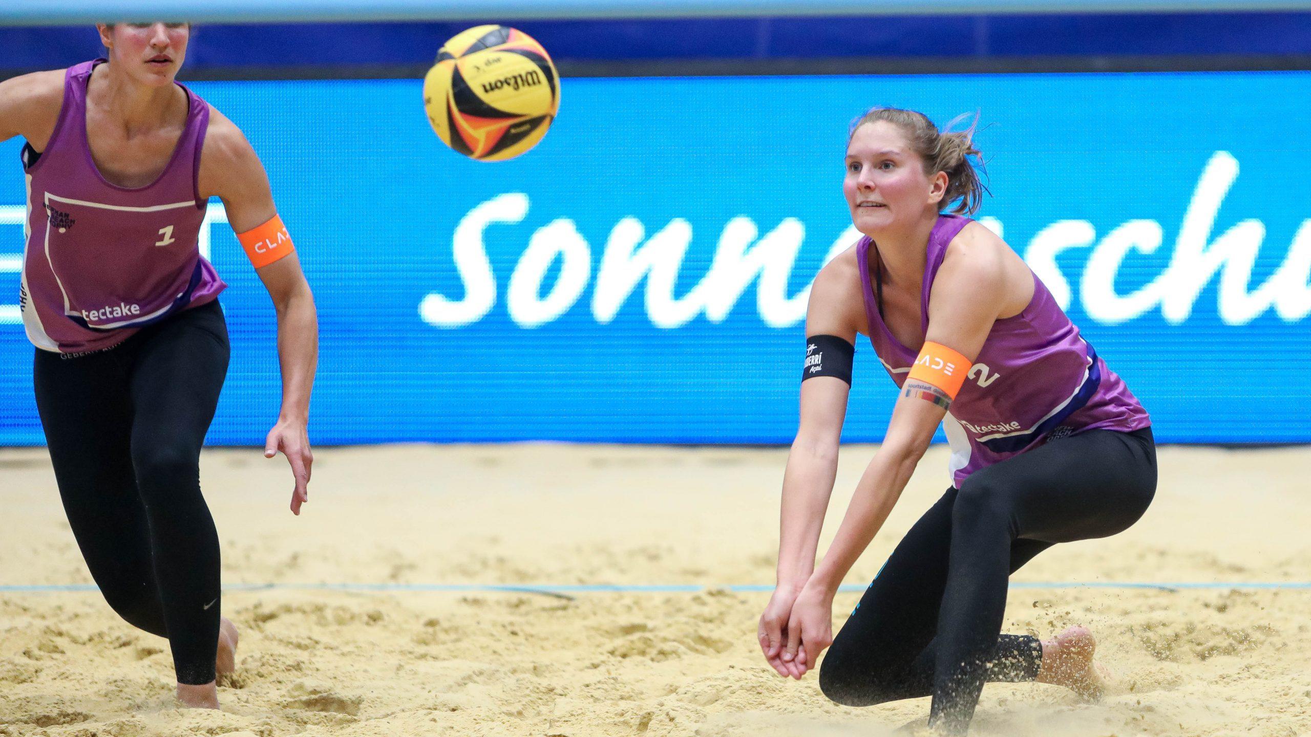 Gewitter stoppt Sarah Schulz*Beachvolleyball: Abbruch in Königs Wusterhausen